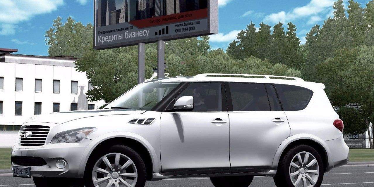 Infiniti QX56 для City Car Driving 1.5.1. - 2