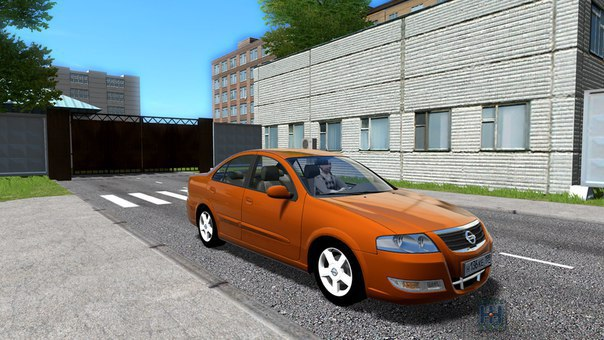 Nissan Almera для City Car Driving 1.5.2
