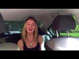 Девушка круто читает рэп в машине (OLISHA),красивая девушка классно читает рэп,классно спела,талант,отлично исполнила,поёмвести