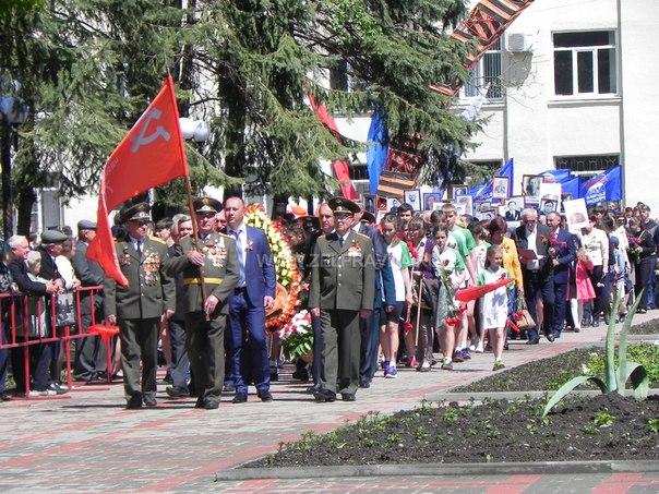 В Зеленчукской прошел торжественный митинг, посвященный 71 годовщине Победы в Великой Отечественной войне