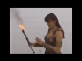 Xena - Lucy Lawless Learning to Breath Fire