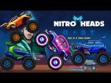Nitro Heads - Walkthrough car: Smart, Forcer, Beetle,Hawk, Tiny