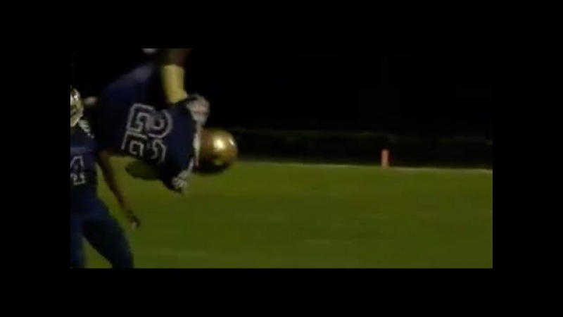 WATCH: High school football player leaves us speechless with 360 flip during a run