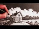 Как нарисовать дом в двухточечной перспективе