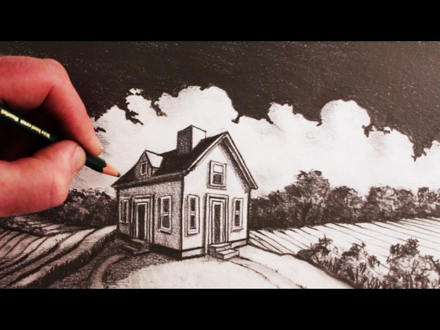 How to Draw a House in 2-Point Perspective: Step by Step