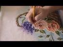 Pintando Cesta com Rosas pintura em tecido) Parte Final