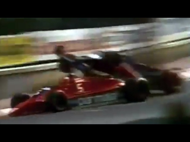 Didier Pironi and Niki Lauda crash at Monaco GP (27 May 1979)