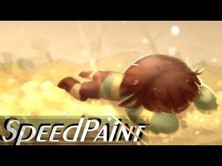 Chara and Asriel SPEEDPAINT! (Undertale) - The Fallen Child