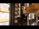 Каркасная пристройка к деревянному дому День 24