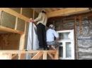 Каркасная пристройка к деревянному дому День 23 Утепляем стены
