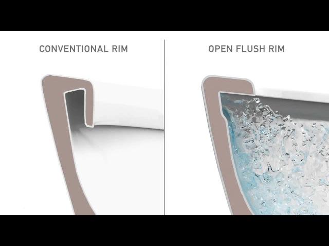 безободковый унитаз Gustavsberg Hygienic Flush