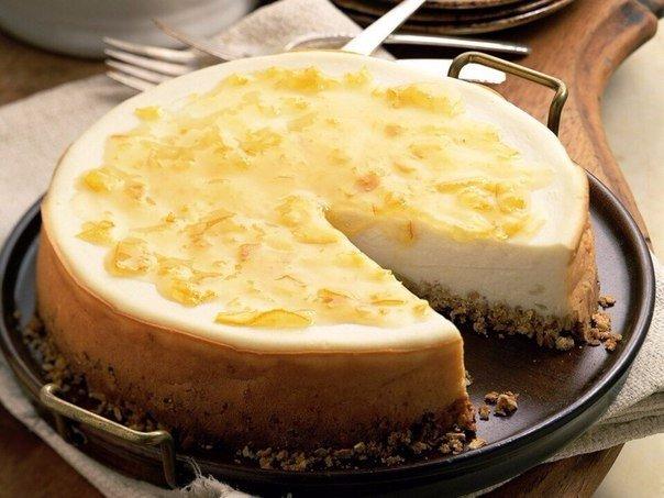 Торт из сливочного сыра без выпечки