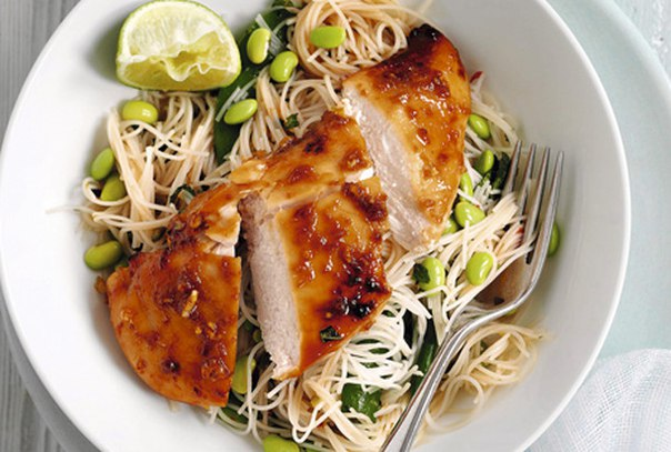 Салат с курицей терияки  myhomecookru