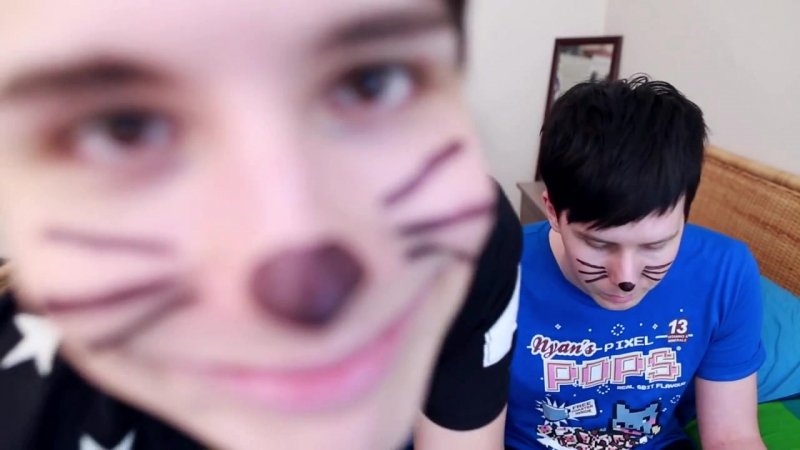 Dan Howell's funny face whiskers