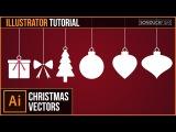 Adobe Illustrator CC Tutorial: Flat CHRISTMAS VECTORS   Graphic Design