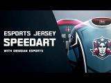 E-Sports Jersey Design   Photoshop SpeedArt   DaseDesigns
