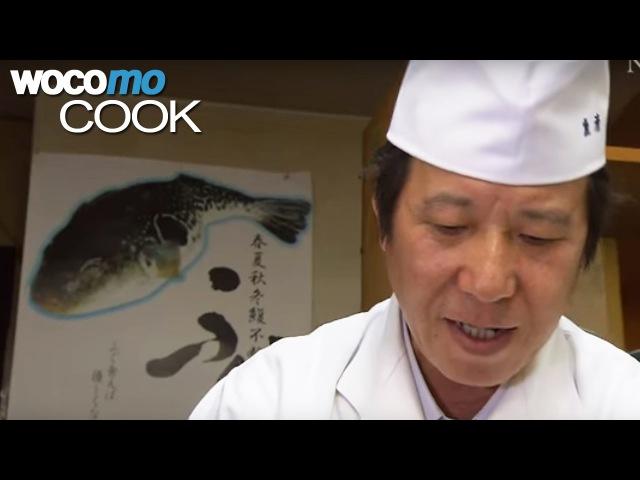 Fugu how to prepare the deadly pufferfish shown by Uosei chef Rikizo Okamoto Tokyo