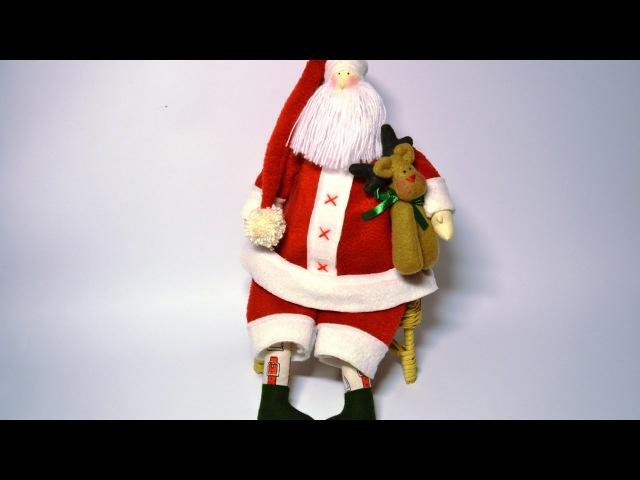 Мастер класс Дед Мороз Тильда Master class Santa Claus Tilda