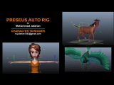 Auto (Bird,Quadruped,Biped) Rigging In Maya -By Mohammad Jafarian - Perseus Auto Rig