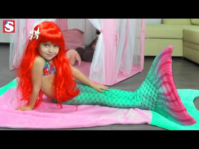 Волшебная записка Превращение РУСАЛКА Ариэль Принцессы Диснея наряды Disney Princess T
