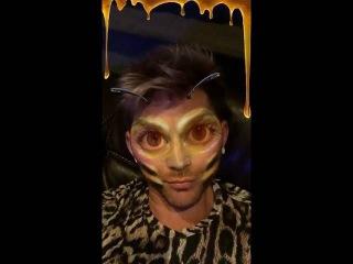 2016-07-15 Adam Lambert on Snapchat (8 snaps) - Flipped