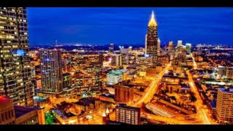 Вечерний Мидтаун Атланта, город - сад победившего лофта