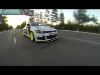 Чипованный VW Scirocco из г. Костанай.