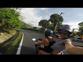 Thailand biker's eyes.
