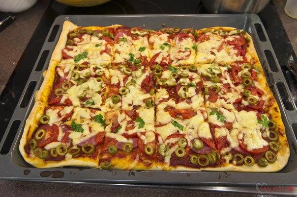 Быстрая пицца рецепт с фото пошагово