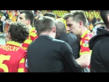 Jagiellonia manager and ultras dont like each other a lot.