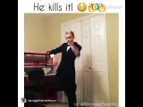 White kid dancing part 2