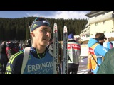 Ukrainian Pidruchnyi Happy after 4th place in Men's Relay