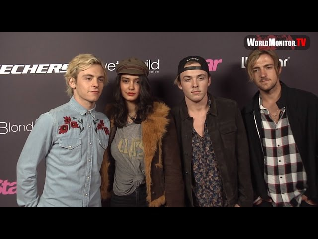 Ross Lynch, Courtney Eaton, R5 Band Star Magazine's 2017 Hollywood Rocks Red carpet