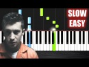 Twenty one pilots Heathens from Suicide Squad - SLOW EASY Piano Tutorial by PlutaX