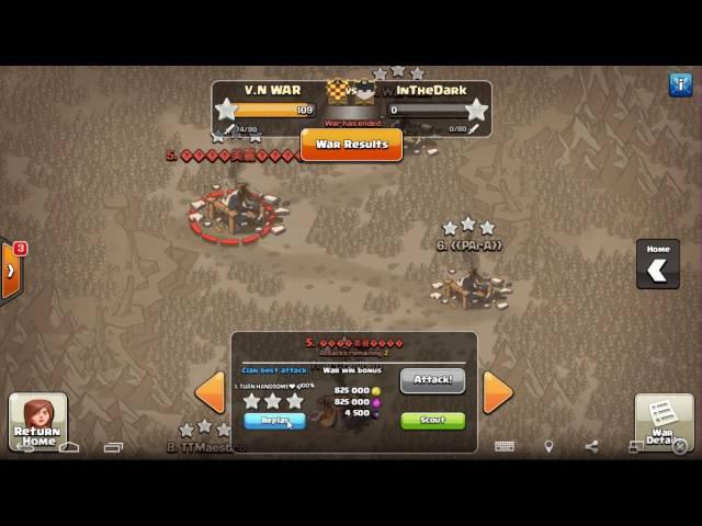 COC V N WAR vs INTHEDARK 40 vs 40 VNW 109 0 INTHEDARK