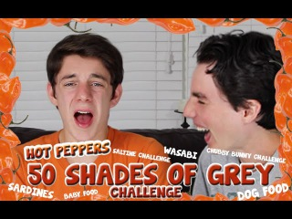50 Shades of Grey Challenge - HOT PEPPERS, DOG FOOD AND OTHER GROSS FOOD