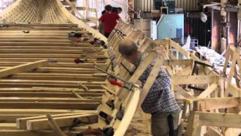 Draken Harald Hårfagre - The construction of a Viking Dragon Ship