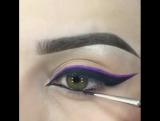 Очень классная идея для вечернего макияжа!)