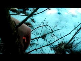 снимаю браконьерские петли на зайцев, спасаю природу... часть 1
