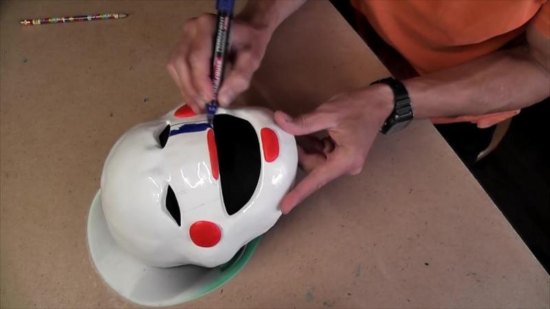 Как сделать маску Марионетки из 5 Ночей с Фредди (из бумаги)