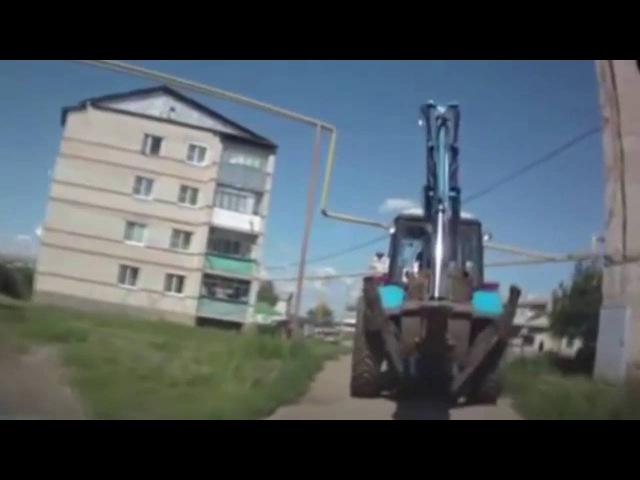 тракторист vs газовая труба/грузовик против жд переезда/солярис против газ 53/газ 53 против солярис