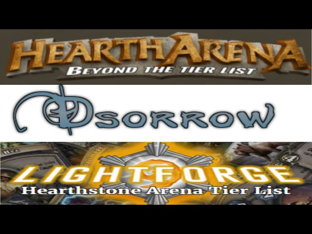 Dsorrow vs HearthArena vs Lightforge
