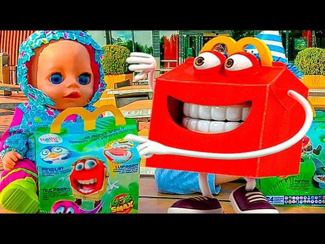 ✿ Беби Бон Кукла и Игрушки Gob Smax Toys Настюшик и Маша играют в шарики Гобсмакс Kids Nastushik