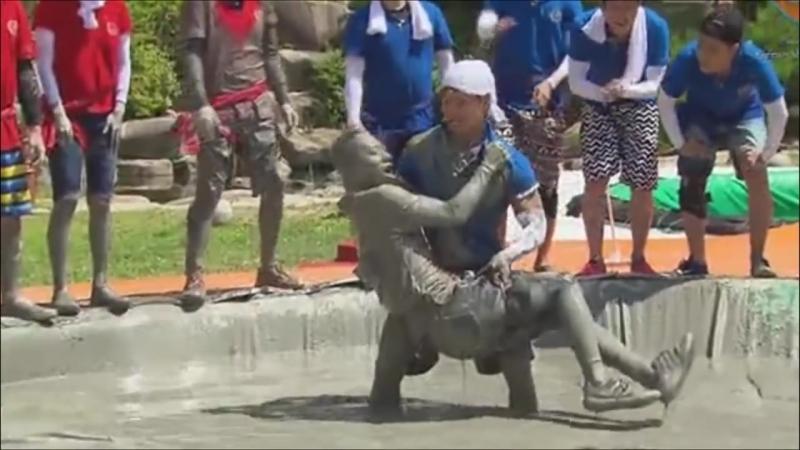 Running Man EP 209 Yoo Jae Suk Humiliated by Kim Jong Kooks Overpowering Strength
