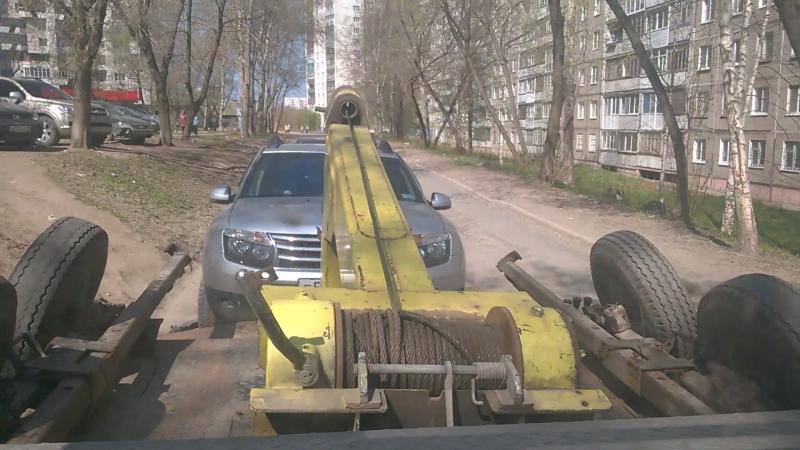 Транспортировка нашего Сильвера на автоэвакуаторе