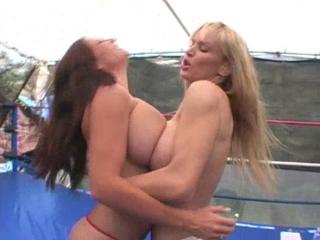 Tanya Danielle vs Goldie Blair-Tit Fight Queen