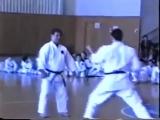 Morio Higaonna Training Sanchin kata and bunkai kata of Goju Ryu Karate