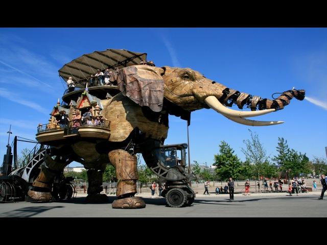 Механический слон. Le Grand Éléphant. Nantes. Нант. Франция