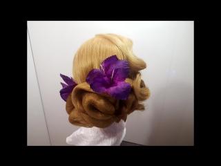 прически вечерняя с сеточками на длинные средние волосы быстрая прическа hairstyles hairs Заитова Елена