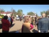 В посёлке Лиманское батальон АЗОВ приехал с оружием снять памятник Ленину